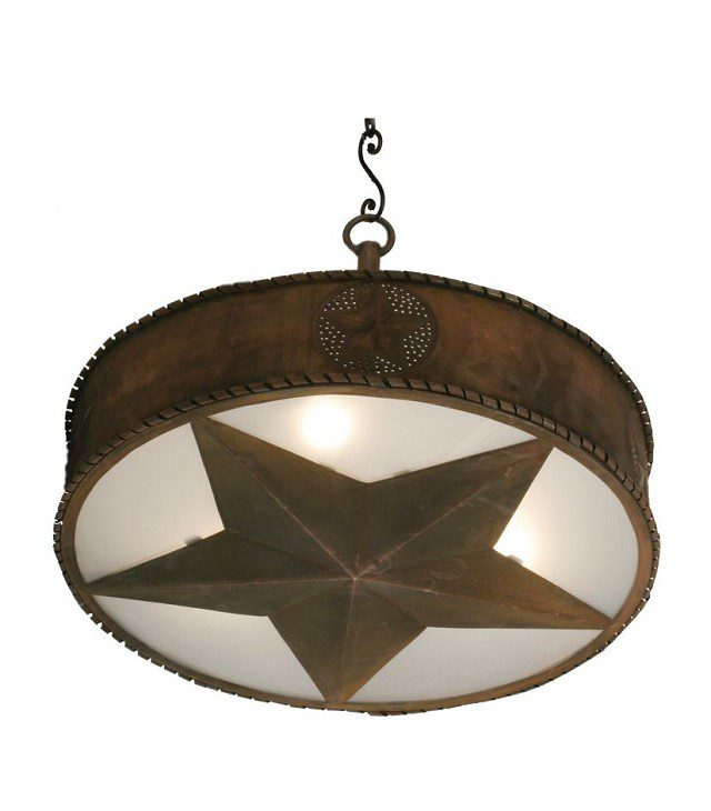Iron Western Star Pendant – Large