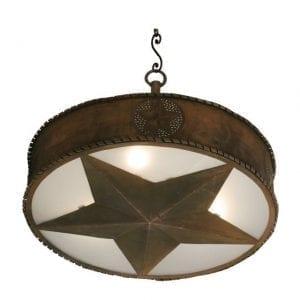 Iron Western Star Pendant - Small