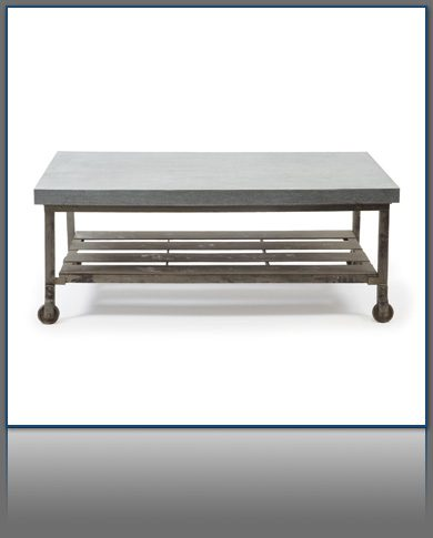 Industrial Steel Rolling Coffee Table